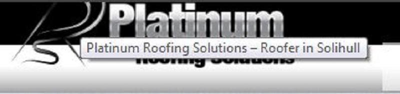 Platinum Roofing Solutions logo