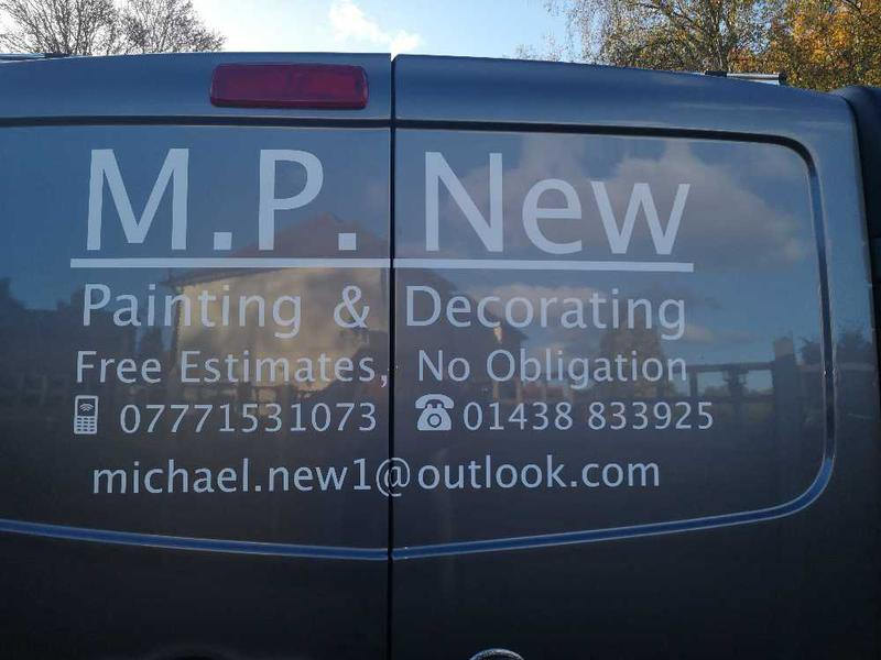 MP New Painting & Decorating logo