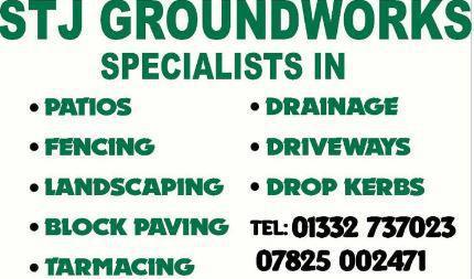 STJ Groundworks logo