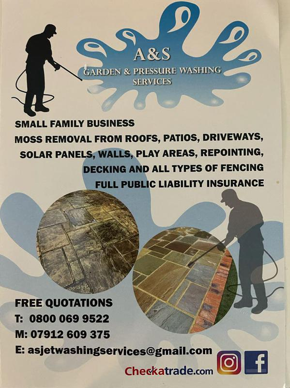 A&S Garden and Pressure Washing Services logo