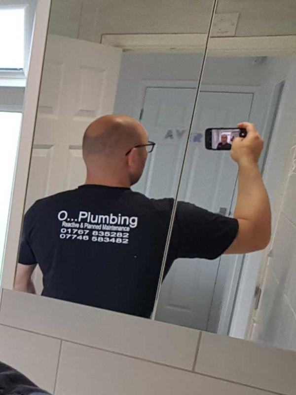 O Plumbing logo