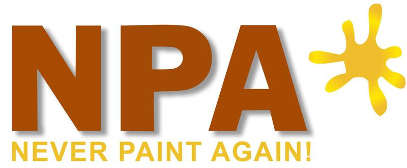 The Never Paint Again Wall Coating Co logo
