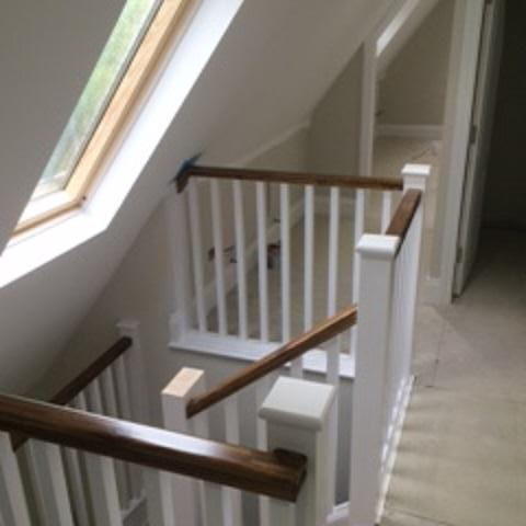 Image 48 - Installing new caps to the newel posts, one more to go.