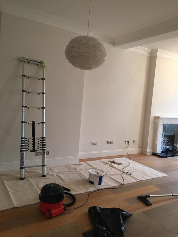 Image 38 - Prepping Lounge Walls