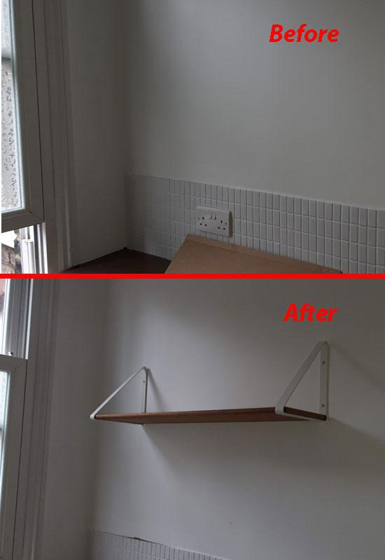 Image 3 - Fixing a shelf