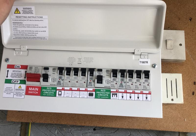 Image 4 - Completed Installation of Consumer Unit