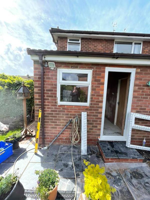 Image 155 - Kitchen refurb - During - Window placement and brickwork