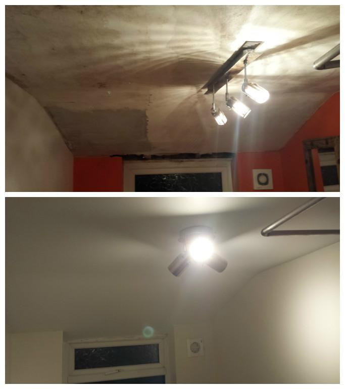 Image 15 - Badly deteriorated bathroom ceiling refurbished and the room decorated.