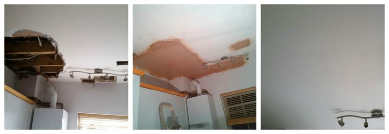 Image 110 - Repair of a collapsed ceiling including plastering and redecorating.