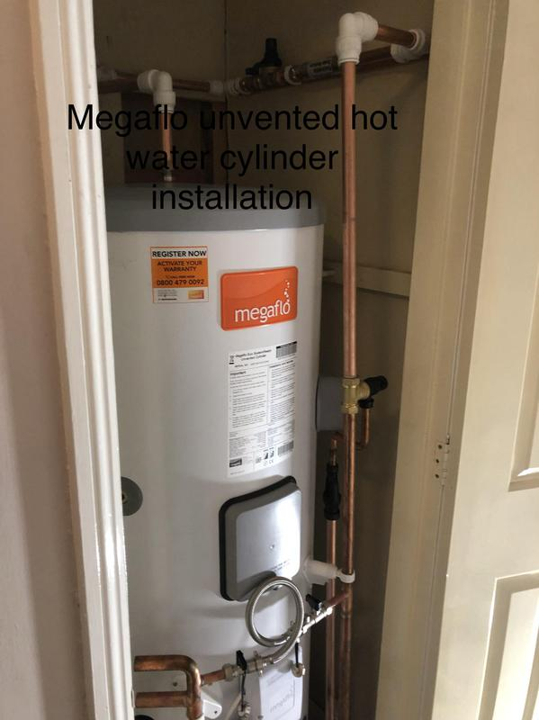 Image 20 - megaflo unvented pressurised hot water cylinder installation.  Our customer was surprised with the hot water delivery.