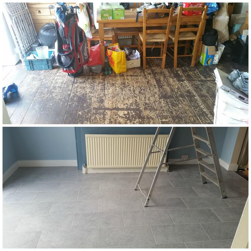 Image 17 - Difficult floor tiling including underfloor heating.