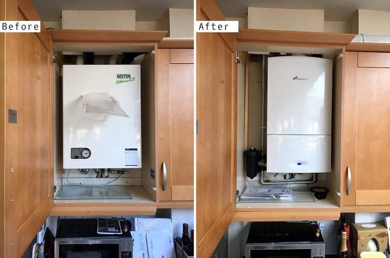 Image 18 - Worcester Bosh 30kw system boiler