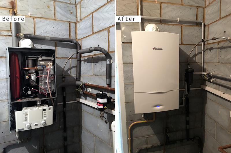 Image 19 - Worcester Bosch 30kw system boiler