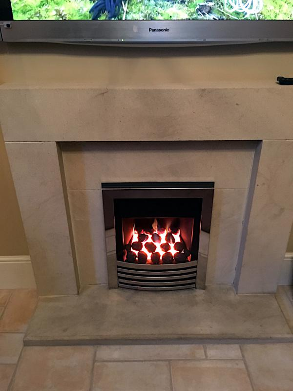 Image 22 - Remote control gas fire