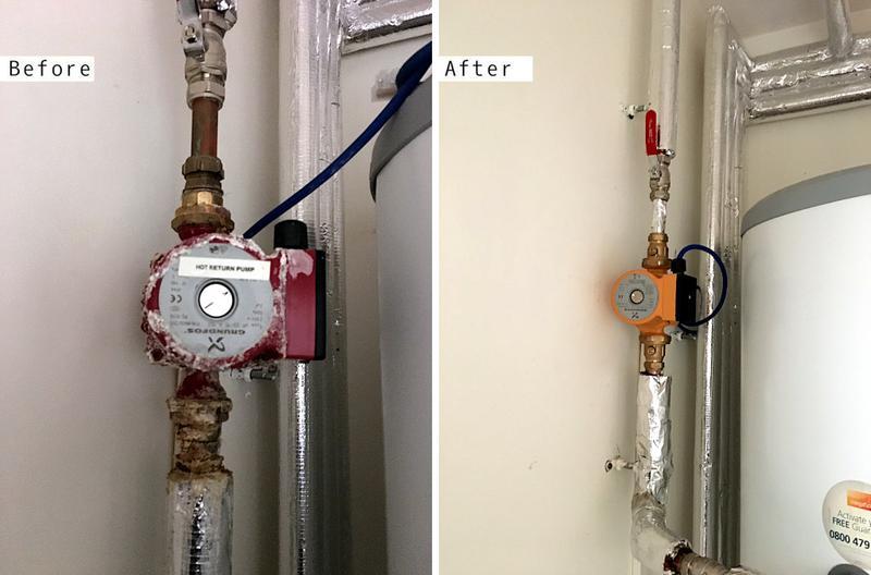 Image 63 - Grundfoss 15-60 Brass Secondary Return Hot Water Pump