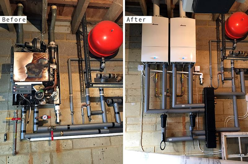 Image 56 - 2x Worcester Bosch 30kw System Boilers