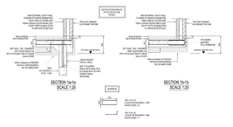 Image 7 - Plie foundation. RC detail and concrete piles. South London.