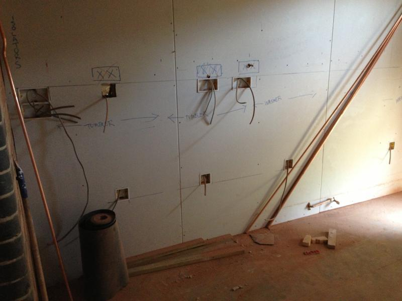 Image 13 - utility sockets marked out and 1st fixed