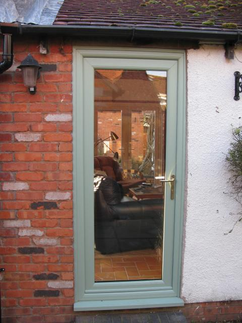 Image 58 - Chartwell green full glass back door