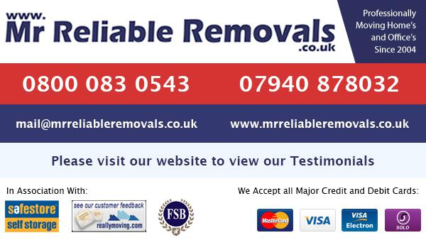 Mr Reliable Removals logo