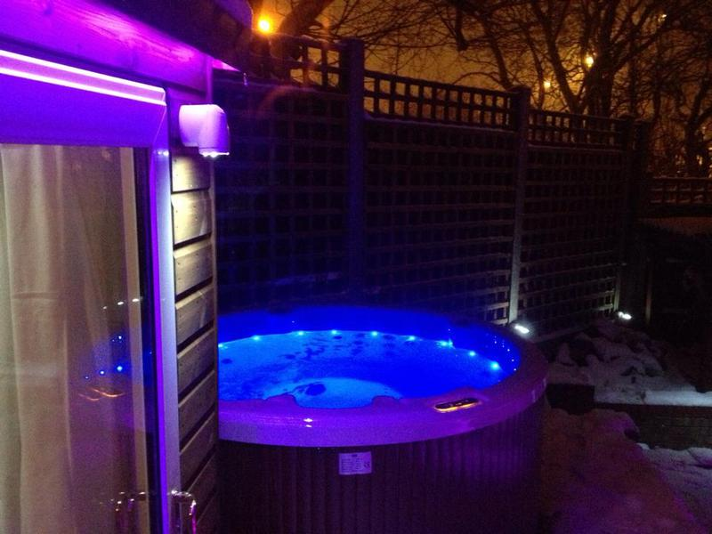 Image 2 - outdoor hot tub & led lighting project