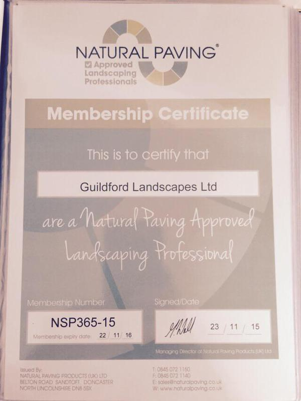 Image 11 - Natural paving certificate