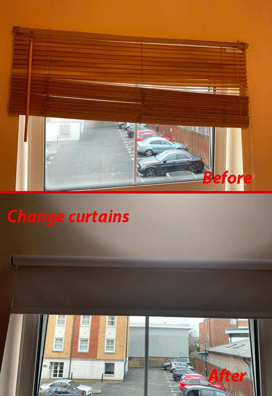 Image 4 - Changing curtains