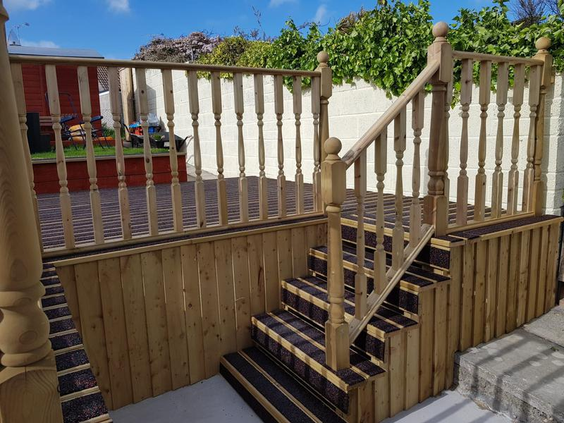 Image 175 - New anti slip decking with steps, handrail and balustrades