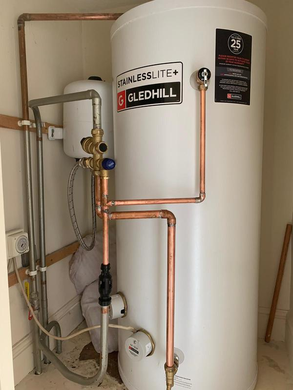 Image 14 - New unvented cylinder, supplied and installed for customer in Amersham. customer got 25 years manufacture warranrty.