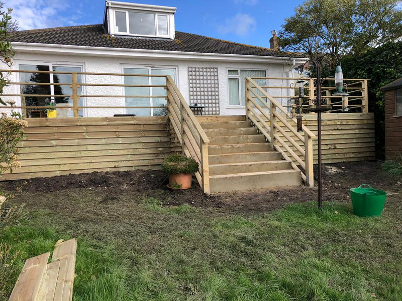 Image 93 - Decking, steps and hand rail, Sturminster Newton