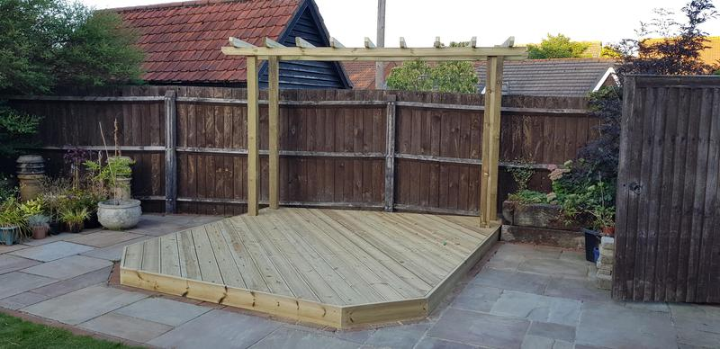 Image 16 - Bespoke Decking & Pergola Over Unused Fish Pond