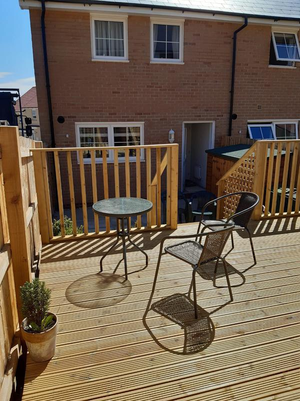 Image 181 - Decking with hand rail, Yeovil