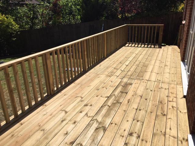 Image 92 - New decking with hand rail and recessed steps, Charlton Down, Dorchester