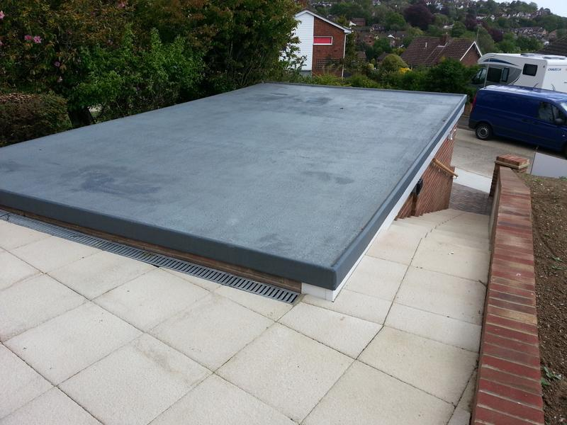 Image 3 - Garage roof finished with an anti-slip GRP.