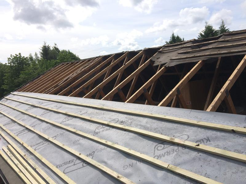 Image 41 - new treated timber battens & breathable membrane.a good sound base for your roof tiles,watertight.