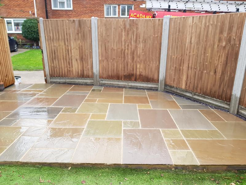 Image 3 - New Indian Sandstone Patio & Fence