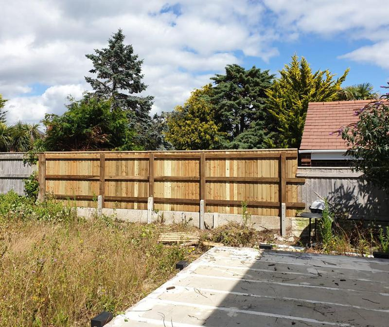 Image 50 - Closeboard boundary fencing, Weymouth