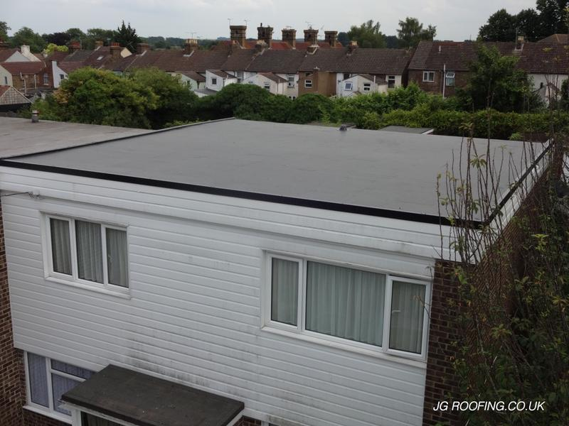 Image 12 - New Warm Deck In Gillingham Using Kingspan TR27 Then Rubberbond Fleecebacked EPDM