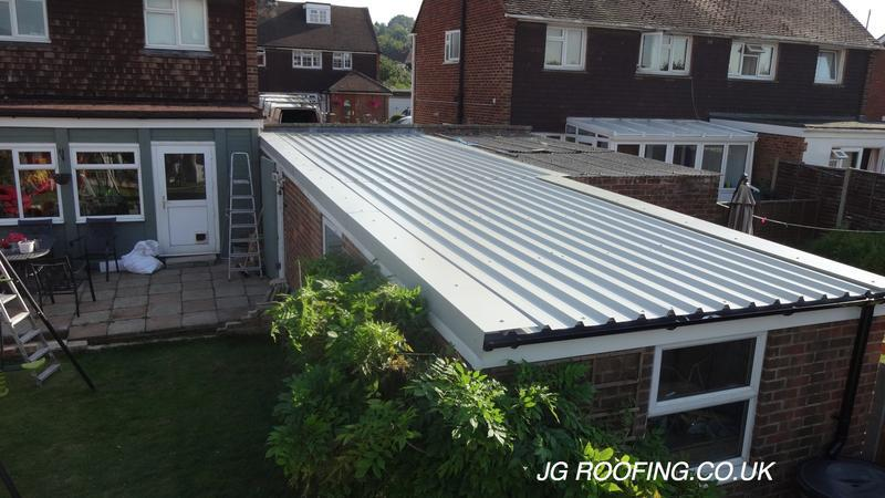 Image 19 - New Garage Roof After New Anti Condensation Sheets Fitted