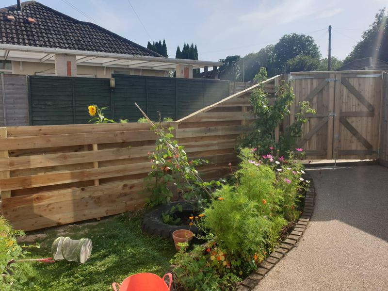 Image 39 - Hit and miss style fencing with new closeboard gates,  Dorchester