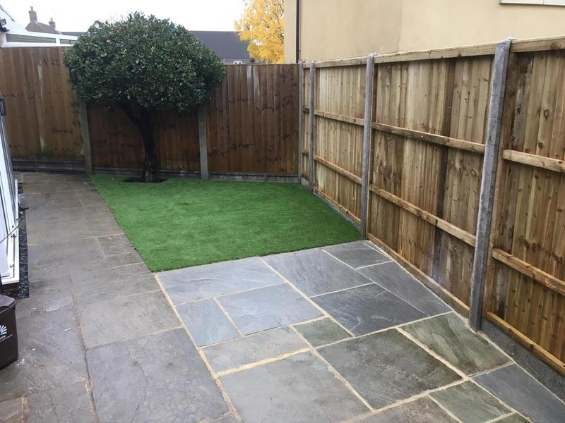 Image 185 - New patio and artificial grass, Dorchester