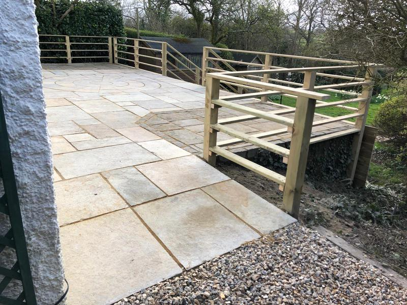 Image 95 - New patio and hand rail, Sturminster Newton