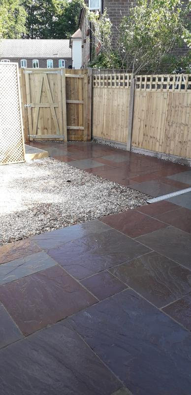 Image 80 - New patio with shingle area, closeboard panel fencing with gate to match, Dorchester