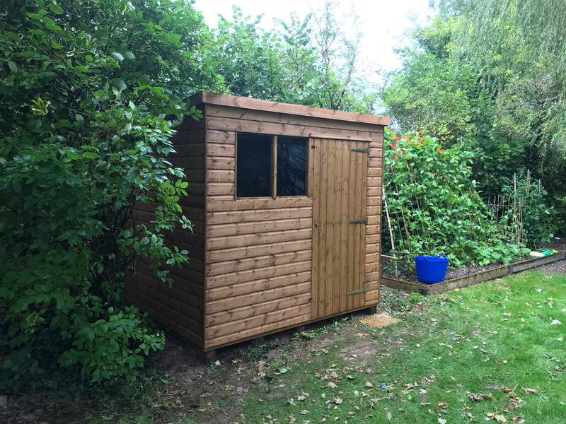 Image 15 - New pent shed installation, Piddletrenthide