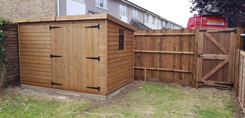 Image 9 - 10' x 6' Pent Shed With New Fence