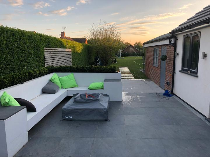 Image 3 - Porcelain Patio, Mid grey and Light grey