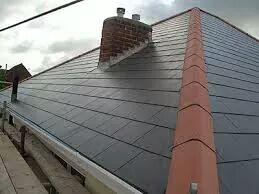 Image 20 - New slate roof mortar bedded hip and ridge system