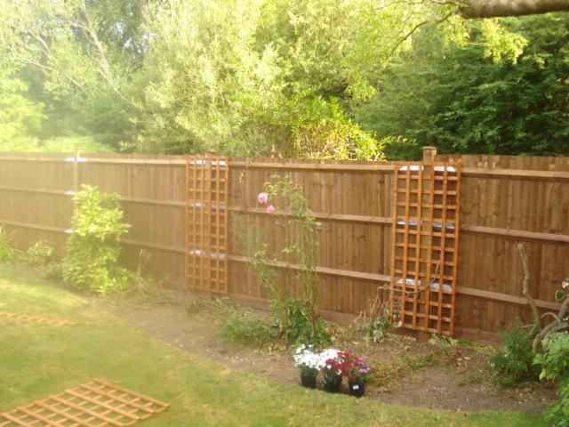 Image 26 - garden after new 6ft 6in fence and trellis fitted