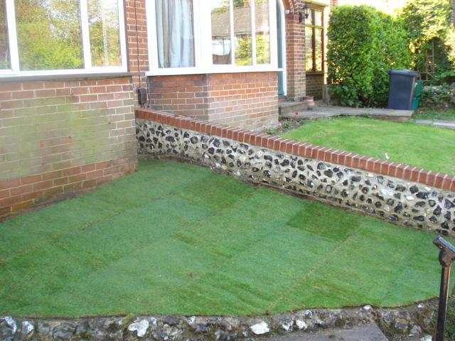 Image 35 - garden area after turfing