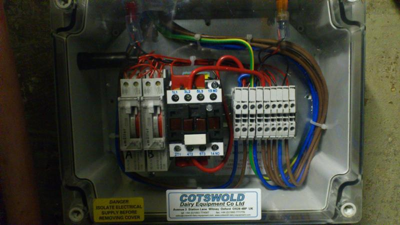 Image 6 - Wiring for the water heater with various low and high limit stats and contactor for switching.
